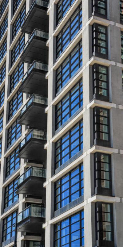 20 Water Street, Wood Wharf, Canary Wharf, Docklands, London, E14, Facades, Facade Design, KFK d.o.o. Front Elevation Construction Photography, Paul Scott,